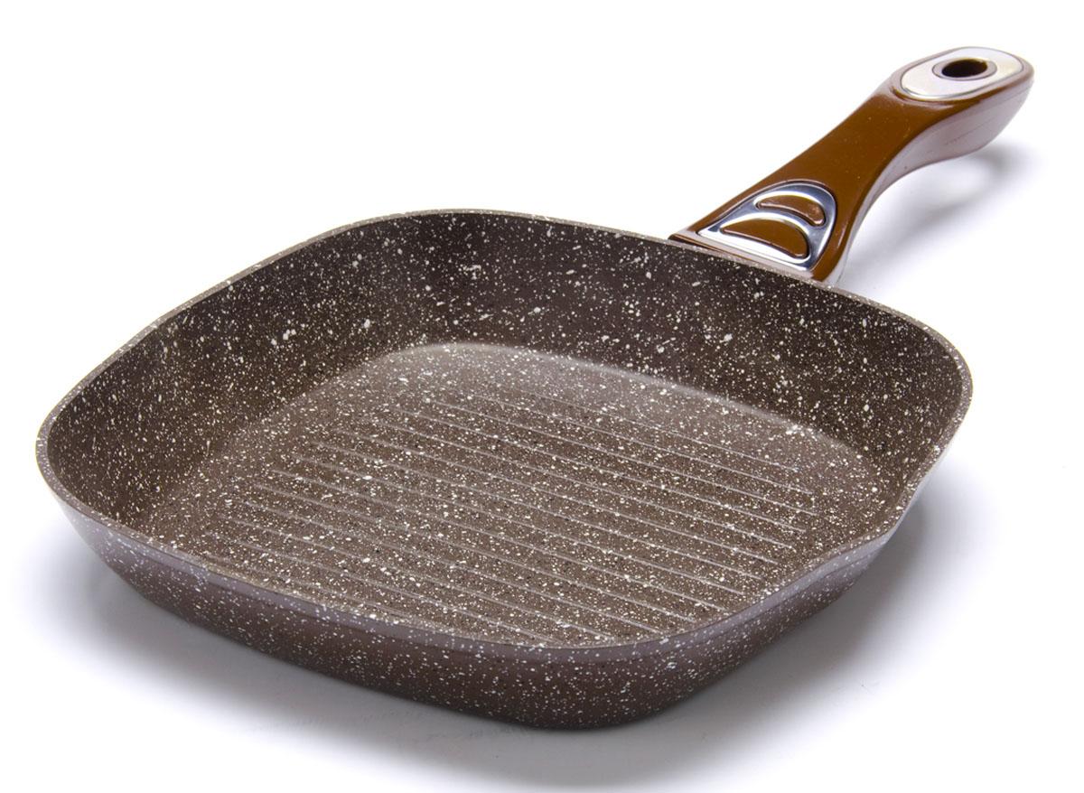 Сковорода-гриль Mayer&Boch, с мраморным покрытием, 24 х 24 см. 2675126751Рифленая поверхность сковороды Mayer&Boch имитирует решетки гриля и образует аппетитную корочку, при этом жир стекает в желобки, не давая продуктам контактировать с ним, что обеспечивает приготовление здоровой пищи. Сковорода-гриль также подходит для жарки мяса, рыбы, сыра, овощей и для приготовления и разогрева сэндвичей. Сохраняет все соки на рифленом дне. Носик на обеих сторонах гриля позволит безопасно слить лишние жир и масло. Подходит для использования на всех типах плит.Размер по верхнему краю: 24 х 24 см.Высота стенки: 4 см.
