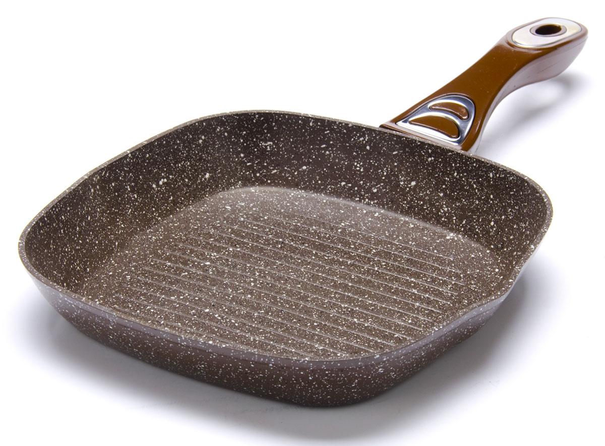 Сковорода-гриль Mayer&Boch. Диаметр 28 см. 2675426754Рифленая поверхность сковороды MAYER&BOCH имитирует решетки гриля и образует аппетитную корочку, при этом жир стекает в желобки, не давая продуктам контактировать с ним, что обеспечивает приготовление здоровой пищи. Сковорода-гриль также подходит для жарки мяса, рыбы, сыра, овощей и для приготовления и разогрева сэндвичей. Сохраняет все соки на рифленом дне. Равномерное распределение тепла. Носик на обеих сторонах гриля. Подходит для использования на всех типах плит.