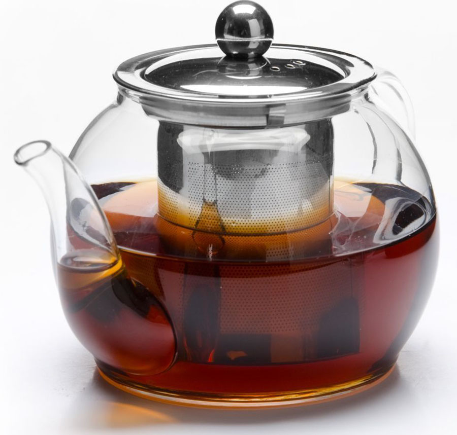Чайник заварочный Mayer&Boch, 800 мл. 2680426804Заварочный чайник MAYER&BOCH изготовлен из термостойкого боросиликатного стекла, фильтр выполнены из нержавеющей стали.Изделия из стекла не впитывают запахи, благодаря чему вы всегда получите натуральный, насыщенный вкус и аромат напитков. Заварочный чайник из стекла удобно использовать для повседневного заваривания чая практически любого сорта. Но цветочные, фруктовые, красные и желтые сорта чая лучше других раскрывают свой вкус и аромат при заваривании именно в стеклянных чайниках, а также сохраняют все полезные ферменты и витамины, содержащиеся в чайных листах. Стальной фильтр гарантирует прозрачность и чистоту напитка от чайных листьев, при этом сохранив букет и насыщенность чая. Прозрачные стенки чайника дают возможность насладиться насыщенным цветом заваренного чая. Изящный заварочный чайник MAYER&BOCH будет прекрасно смотреться в любом интерьере. Подходит для мытья в посудомоечной машине.