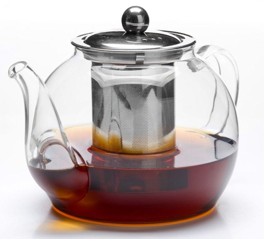 Чайник заварочный Mayer&Boch, 1,2 л. 2680626806Заварочный чайник MAYER&BOCH изготовлен из термостойкого боросиликатного стекла, фильтр выполнены из нержавеющей стали.Изделия из стекла не впитывают запахи, благодаря чему вы всегда получите натуральный, насыщенный вкус и аромат напитков. Заварочный чайник из стекла удобно использовать для повседневного заваривания чая практически любого сорта. Но цветочные, фруктовые, красные и желтые сорта чая лучше других раскрывают свой вкус и аромат при заваривании именно в стеклянных чайниках, а также сохраняют все полезные ферменты и витамины, содержащиеся в чайных листах. Стальной фильтр гарантирует прозрачность и чистоту напитка от чайных листьев, при этом сохранив букет и насыщенность чая. Прозрачные стенки чайника дают возможность насладиться насыщенным цветом заваренного чая. Изящный заварочный чайник MAYER&BOCH будет прекрасно смотреться в любом интерьере. Подходит для мытья в посудомоечной машине.