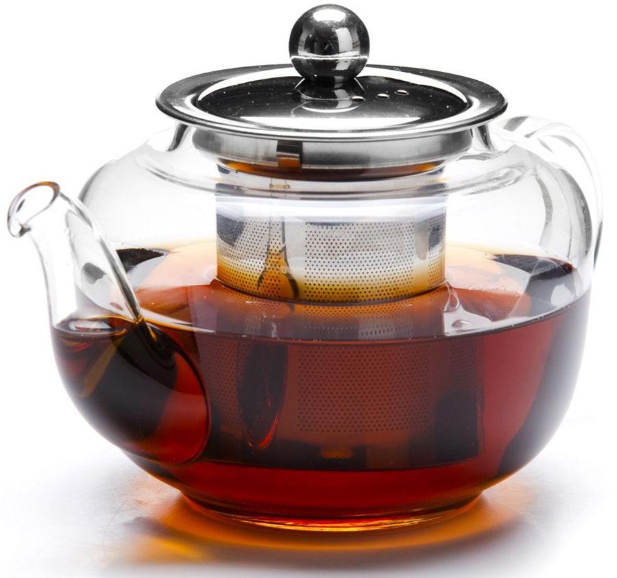 Чайник заварочный Mayer&Boch, 600 мл. 2680726807Заварочный чайник MAYER&BOCH изготовлен из термостойкого боросиликатного стекла, фильтр выполнены из нержавеющей стали.Изделия из стекла не впитывают запахи, благодаря чему вы всегда получите натуральный, насыщенный вкус и аромат напитков. Заварочный чайник из стекла удобно использовать для повседневного заваривания чая практически любого сорта. Но цветочные, фруктовые, красные и желтые сорта чая лучше других раскрывают свой вкус и аромат при заваривании именно в стеклянных чайниках, а также сохраняют все полезные ферменты и витамины, содержащиеся в чайных листах. Стальной фильтр гарантирует прозрачность и чистоту напитка от чайных листьев, при этом сохранив букет и насыщенность чая. Прозрачные стенки чайника дают возможность насладиться насыщенным цветом заваренного чая. Изящный заварочный чайник MAYER&BOCH будет прекрасно смотреться в любом интерьере. Подходит для мытья в посудомоечной машине.