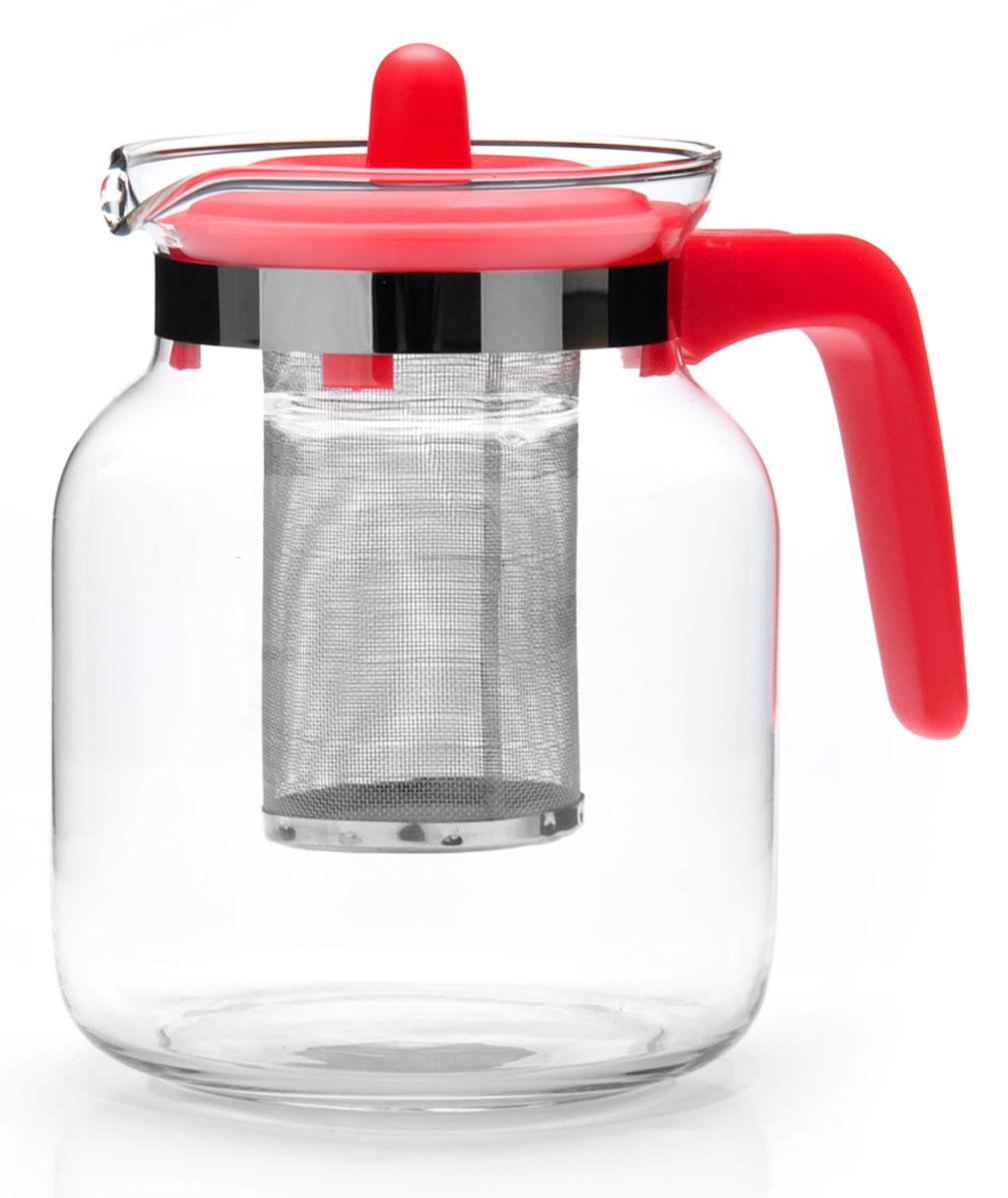 Чайник заварочный Mayer&Boch, 1,45 л. 26808-226808-2Заварочный чайник Mayer&Boch изготовлен из термостойкого боросиликатного стекла, фильтр выполнены из нержавеющей стали.Изделия из стекла не впитывают запахи, благодаря чему вы всегда получите натуральный, насыщенный вкус и аромат напитков.Заварочный чайник из стекла удобно использовать для повседневного заваривания чая практически любого сорта.Но цветочные, фруктовые, красные и желтые сорта чая лучше других раскрывают свой вкус и аромат при заваривании именно в стеклянных чайниках, а также сохраняют все полезные ферменты и витамины, содержащиеся в чайных листах.Стальной фильтр гарантирует прозрачность и чистоту напитка от чайных листьев, при этом сохранив букет и насыщенность чая.Прозрачные стенки чайника дают возможность насладиться насыщенным цветом заваренного чая.Изящный заварочный чайник Mayer&Boch будет прекрасно смотреться в любом интерьере.Подходит для мытья в посудомоечной машине.