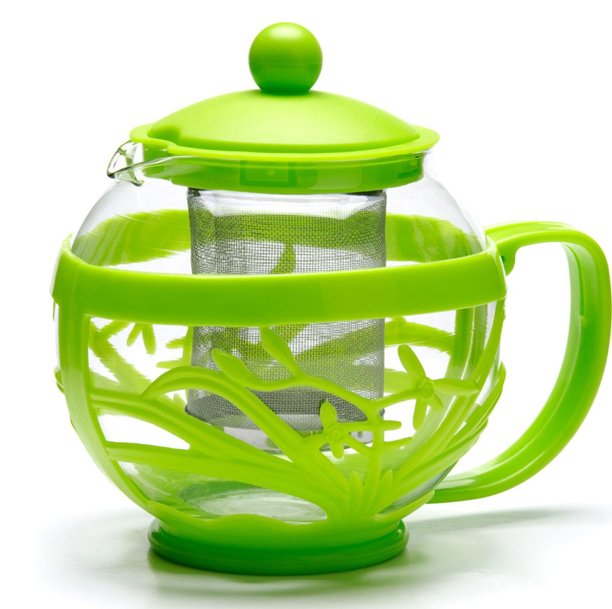 Чайник заварочный Mayer&Boch, 750 мл 26809-126809-1Заварочный чайник MAYER&BOCH с металлическим фильтром/ситечком изготовлен из термостойкого боросиликатного стекла. Корпус и крышка из цветного пластика, фильтр из нержавеющей стали, внутренняя колба из стекла. Изделия из стекла не впитывают запахи, благодаря чему вы всегда получите натуральный, насыщенный вкус и аромат напитков. Заварочный чайник из стекла удобно использовать для повседневного заваривания чая любого сорта. Сетчатый металлический фильтр гарантирует прозрачность и чистоту напитка от чайных листьев, при этом сохранив букет и насыщенность чая. Прозрачные стенки чайника дают возможность насладиться насыщенным цветом заваренного чая. Эстетичный и функциональный, заварочный чайник MAYER&BOCH будет прекрасно смотреться в любом интерьере и послужит хорошим подарком для друзей и близких! Подходит для мытья в посудомоечной машине.