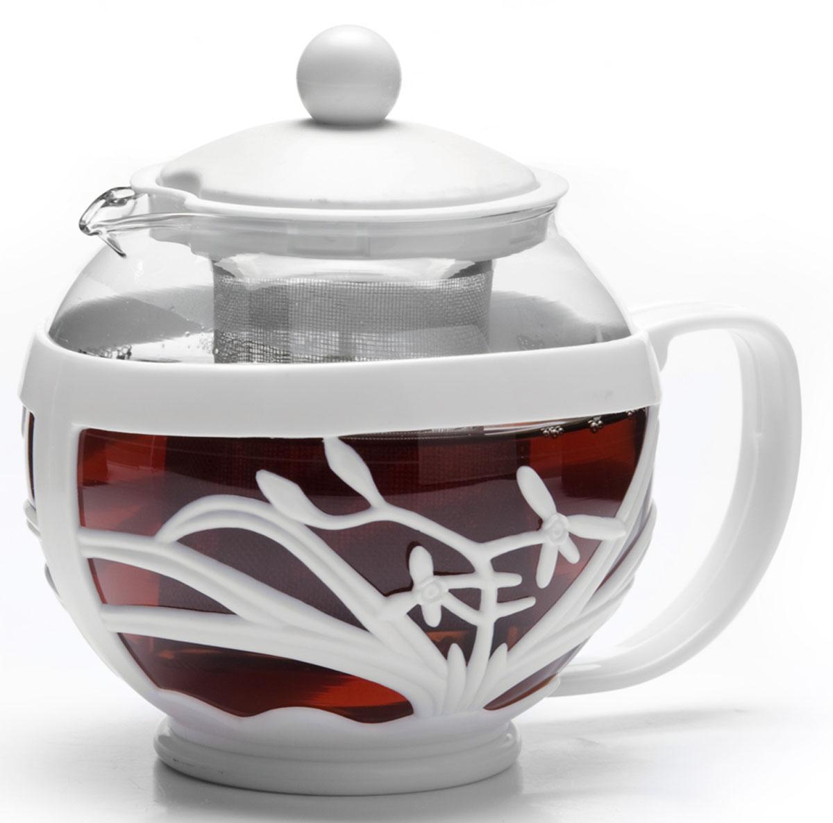 Чайник заварочный Mayer&Boch, 750 мл 26809-326809-3Заварочный чайник Mayer & Boch изготовлен из термостойкого боросиликатного стекла, фильтр выполнен из нержавеющей стали. Изделия из стекла не впитывают запахи, благодаря чему вы всегда получите натуральный, насыщенный вкус и аромат напитков. Заварочный чайник из стекла удобно использовать для повседневного заваривания чая практически любого сорта. Но цветочные, фруктовые, красные и желтые сорта чая лучше других раскрывают свой вкус и аромат при заваривании именно в стеклянных чайниках, а также сохраняют все полезные ферменты и витамины, содержащиеся в чайных листах. Стальной фильтр гарантирует прозрачность и чистоту напитка от чайных листьев, при этом сохранив букет и насыщенность чая. Прозрачные стенки чайника дают возможность насладиться насыщенным цветом заваренного чая. Изящный заварочный чайник Mayer & Boch будет прекрасно смотреться в любом интерьере. Подходит для мытья в посудомоечной машине.