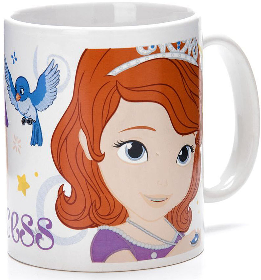 Кружка Disney София, 315 мл.2701527015Кружка DISNEY, выполненный из высококачественной керамики и декорированы красочным рисунком. Такая кружка обязательно понравится вашему ребенку, потому что теперь у него будет своя собственная посуда с изображением героев популярных мультиков. Кружка DISNEY - идеальный подарок для вашего ребенка. Подходит для мытья в посудомоечной машине.