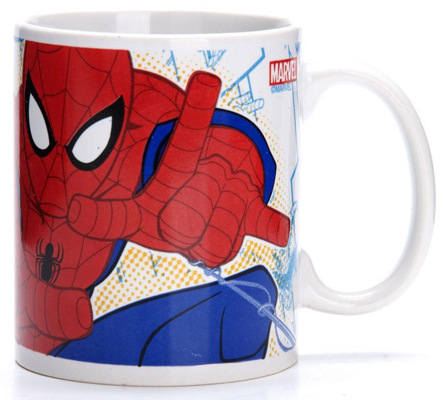 Кружка Marvel Человек паук, 315 мл. 2701727017Кружка MARVEL, выполненный из высококачественной керамики и декорированы красочным рисунком. Такая кружка обязательно понравится вашему ребенку, потому что теперь у него будет своя собственная посуда с изображением героев популярных мультиков. Кружка DISNEY - идеальный подарок для вашего ребенка. Подходит для мытья в посудомоечной машине.