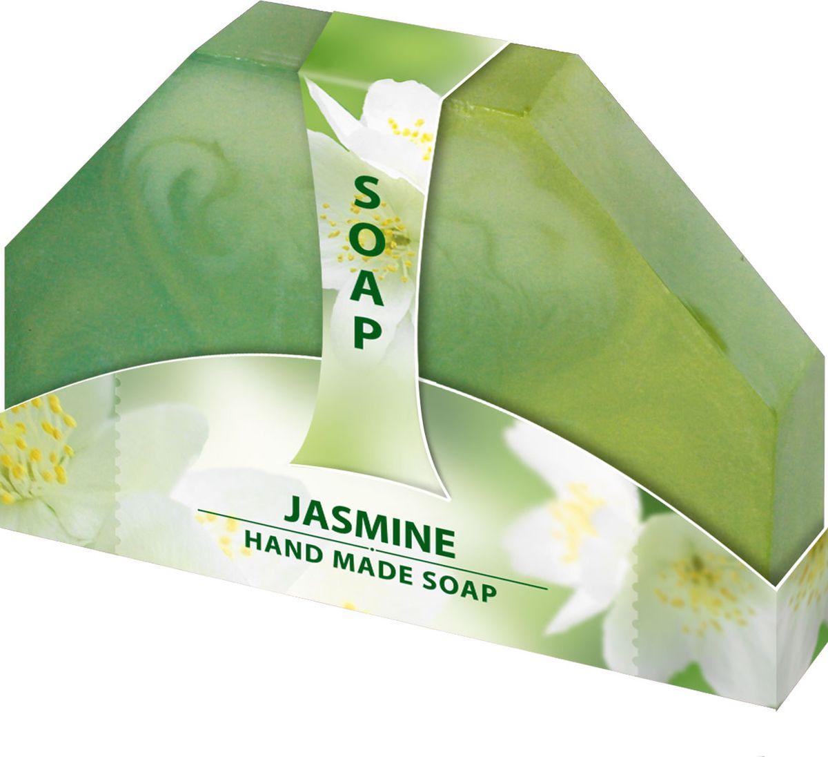 Мыло ручной работы Жасмин Hand made spa collection, 80 г6000728Мыло из нежного природного пальмового масла, содержит натуральный экстракт жасмина. Имеет приятный цветочный аромат, который наполнит вашу душу удовольствием. Наслаждайтесь гладкостью кожи после каждого использования. Очищает и тонизирует кожу, делая ее бархатистой.