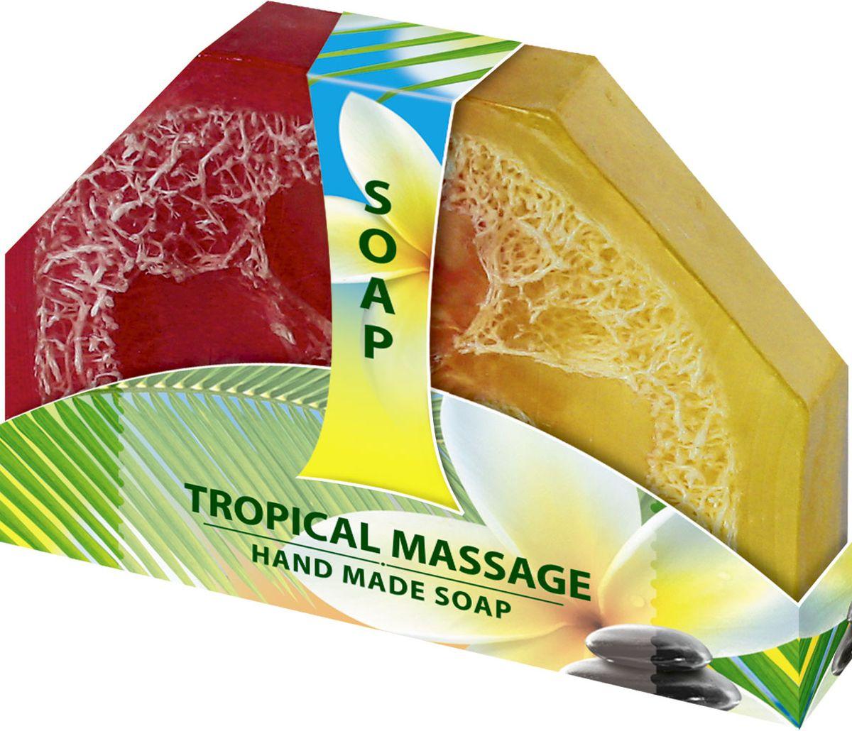 Мыло ручной работы Тропический массаж Hand made spa collection, 80 г6000742Нежное натуральное мыло с содержанием пальмового и кокосового масла с ароматами папайи и манго. Содержит натуральные экстракты ромашки и розмарина. Деликатно чистит кожу и поддерживает ее в тонусе.