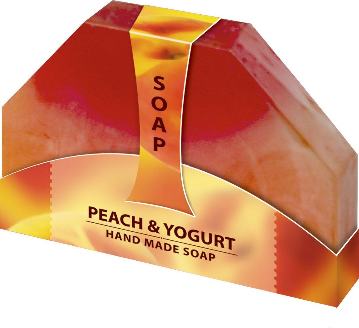 Мыло ручной работы Персиковый Йогурт Hand made spa collection, 80 г6000834Мыло из нежного природного пальмового масла, содержит натуральный экстракт персика, с содержанием йогурта. Имеет приятный фруктовый аромат, который наполнит вашу душу удовольствием. Наслаждайтесь гладкостью кожи после каждого использования. Очищает и тонизирует кожу, делая ее бархатистой.