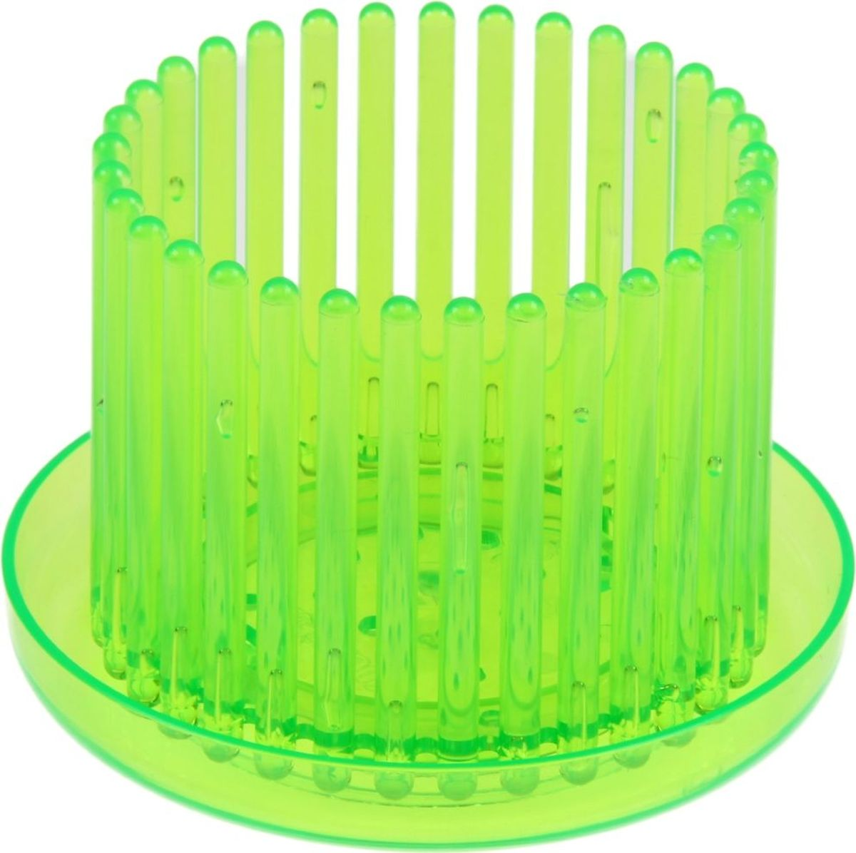 """Горшок Техоснастка """"Корона"""", для орхидеи, с поддоном, цвет: зеленый, 10 х 10 х 8 см"""