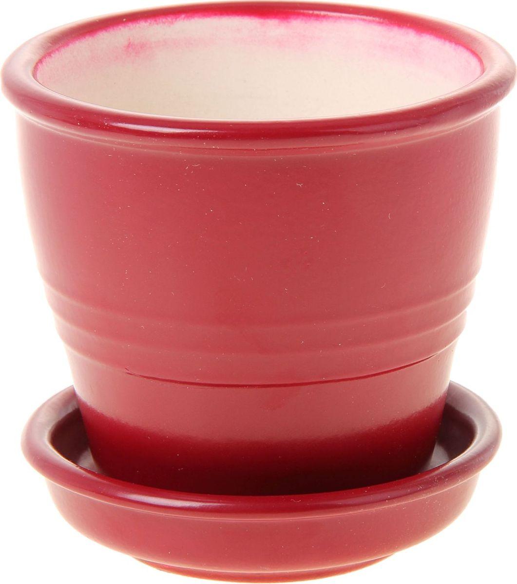 Кашпо Керамика ручной работы Классик, цвет: бордовый, 0,23 л1019387Комнатные растения — всеобщие любимцы. Они радуют глаз, насыщают помещение кислородом и украшают пространство. Каждому из них необходим свой удобный и красивый дом. Кашпо из керамики прекрасно подходят для высадки растений: за счёт пластичности глины и разных способов обработки существует великое множество форм и дизайновпористый материал позволяет испаряться лишней влагевоздух, необходимый для дыхания корней, проникает сквозь керамические стенки! #name# позаботится о зелёном питомце, освежит интерьер и подчеркнёт его стиль.