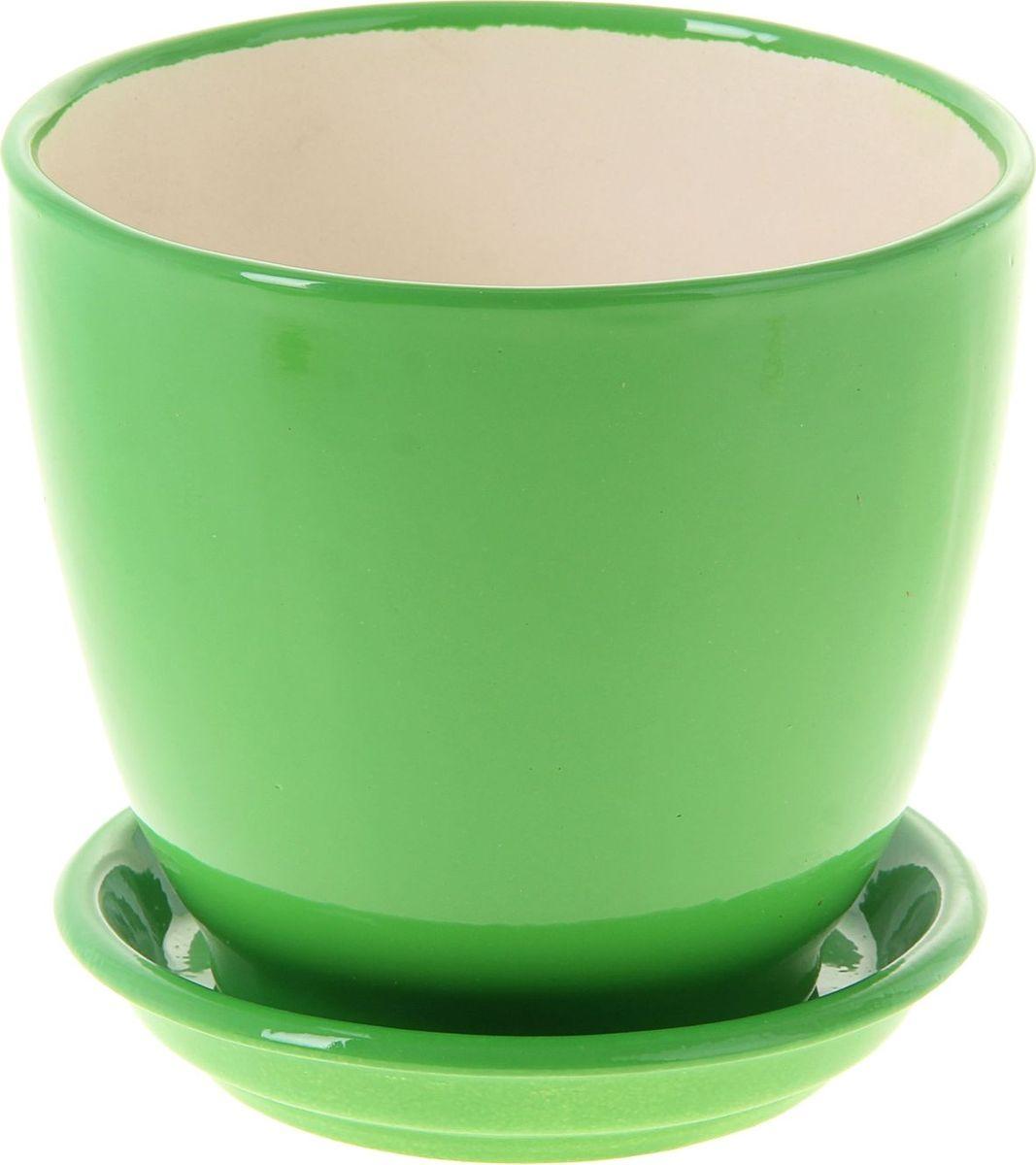 Кашпо Керамика ручной работы Кедр. Глянец, цвет: зеленый, 1,6 л1019403Комнатные растения - всеобщие любимцы. Они радуют глаз, насыщают помещение кислородом и украшают пространство. Каждому из них необходим свой удобный и красивый дом. Кашпо из керамики прекрасно подходят для высадки растений:пористый материал позволяет испаряться лишней влаге;воздух, необходимый для дыхания корней, проникает сквозь керамические стенки. Кашпо Кедр. Глянец позаботится о зеленом питомце, освежит интерьер и подчеркнет его стиль.
