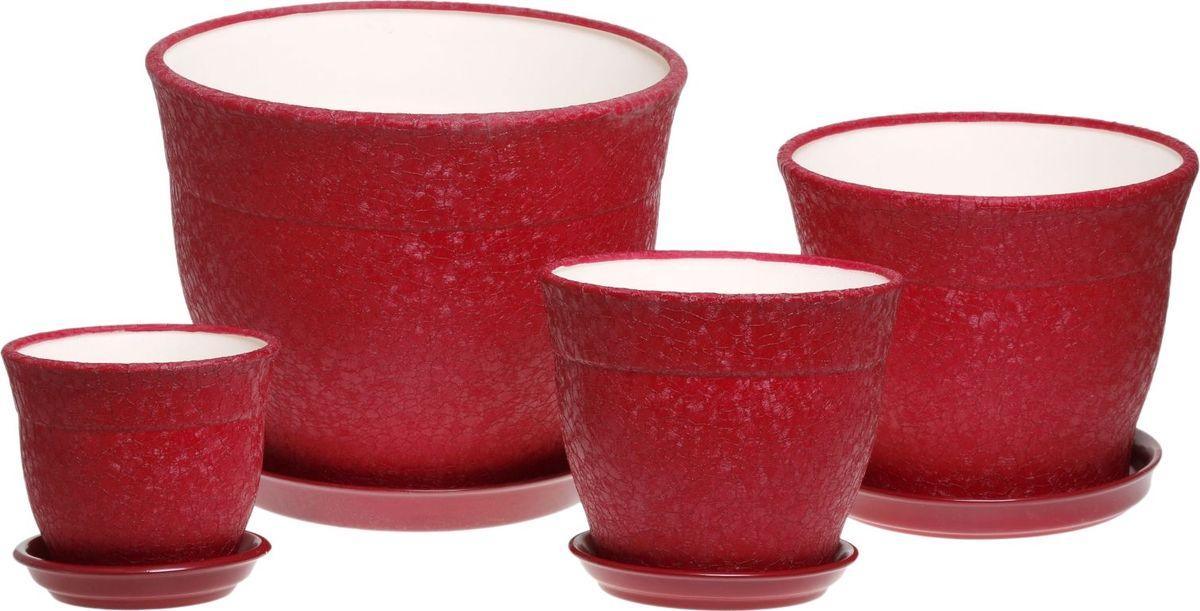 Набор кашпо Керамика ручной работы Флорис, цвет: бордовый, 4 предмета1019428Комнатные растения — всеобщие любимцы. Они радуют глаз, насыщают помещение кислородом и украшают пространство. Каждому из них необходим свой удобный и красивый дом. Кашпо из керамики прекрасно подходят для высадки растений: за счёт пластичности глины и разных способов обработки существует великое множество форм и дизайновпористый материал позволяет испаряться лишней влагевоздух, необходимый для дыхания корней, проникает сквозь керамические стенки! #name# позаботится о зелёном питомце, освежит интерьер и подчеркнёт его стиль.