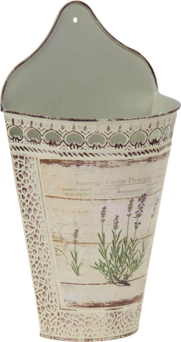 Кашпо Орхис, настенное, цвет: белый, 18 х 9 х 22 см1039779Комнатные растения — всеобщие любимцы. Они радуют глаз, насыщают помещение кислородом и украшают пространство. Каждому из растений необходим свой удобный и красивый дом. Металлические декоративные вазы для горшков практичны и долговечны. Кашпо Орхис позаботится о зелёном питомце, освежит интерьер и подчеркнёт его стиль. Особенно выигрышно они смотрятся в экстерьере: на террасах и в беседках. При желании его всегда можно перекрасить в другой цвет.Размер: 18 х 9 х 22 см.