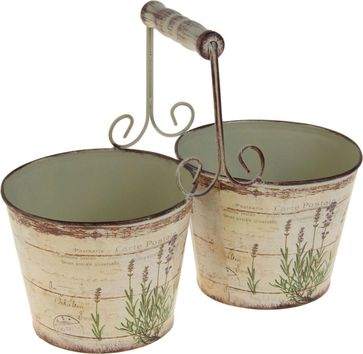 Кашпо Орхис, двойное, 26 х 13 х 10 см1039780Комнатные растения — всеобщие любимцы. Они радуют глаз, насыщают помещение кислородом и украшают пространство. Каждому из растений необходим свой удобный и красивый дом. Металлические декоративные вазы для горшков практичны и долговечны. #name# позаботится о зелёном питомце, освежит интерьер и подчеркнёт его стиль. Особенно выигрышно они смотрятся в экстерьере: на террасах и в беседках. При желании его всегда можно перекрасить в другой цвет.