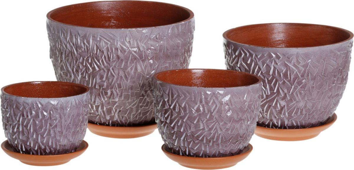 Набор кашпо Льдинка, 4 предмета1039799Комнатные растения — всеобщие любимцы. Они радуют глаз, насыщают помещение кислородом и украшают пространство. Каждому из них необходим свой удобный и красивый дом. Кашпо из керамики прекрасно подходят для высадки растений: за счет пластичности глины и разных способов обработки существует великое множество форм и дизайнов пористый материал позволяет испаряться лишней влаге воздух, необходимый для дыхания корней, проникает сквозь керамические стенки! позаботится о зеленом питомце, освежит интерьер и подчеркнет его стиль.