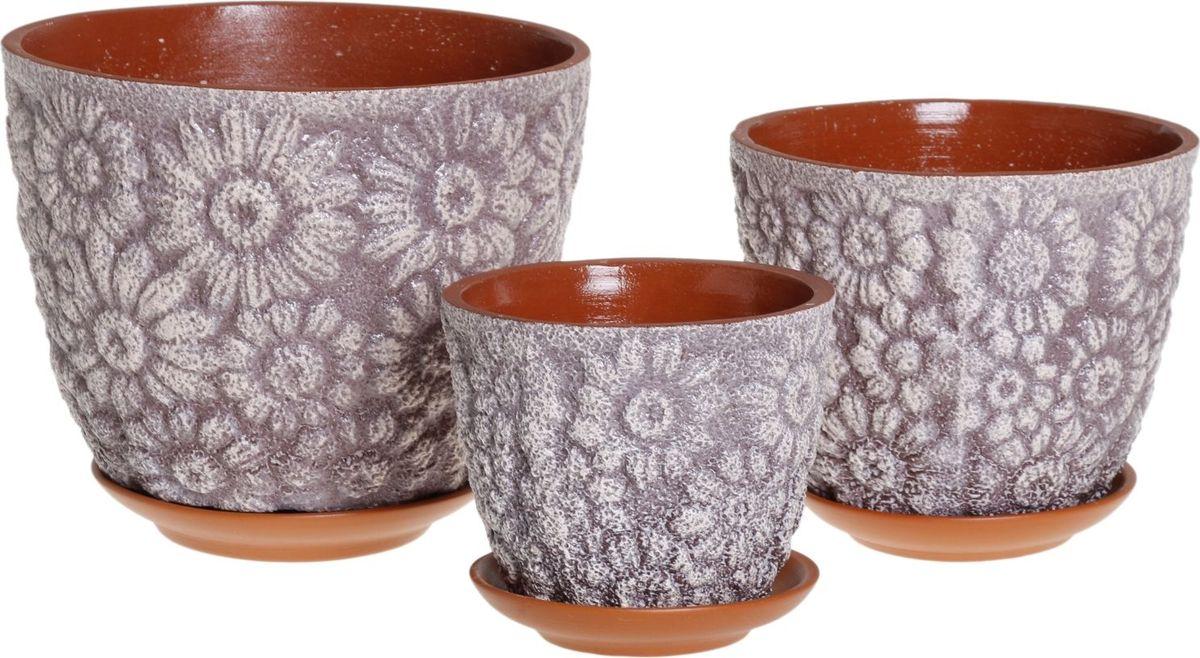 Набор кашпо Гербера, цвет: чернослив, 3 предмета1039804Комнатные растения — всеобщие любимцы. Они радуют глаз, насыщают помещение кислородом и украшают пространство. Каждому из них необходим свой удобный и красивый дом. Кашпо из керамики прекрасно подходят для высадки растений: за счёт пластичности глины и разных способов обработки существует великое множество форм и дизайновпористый материал позволяет испаряться лишней влагевоздух, необходимый для дыхания корней, проникает сквозь керамические стенки! #name# позаботится о зелёном питомце, освежит интерьер и подчеркнёт его стиль.