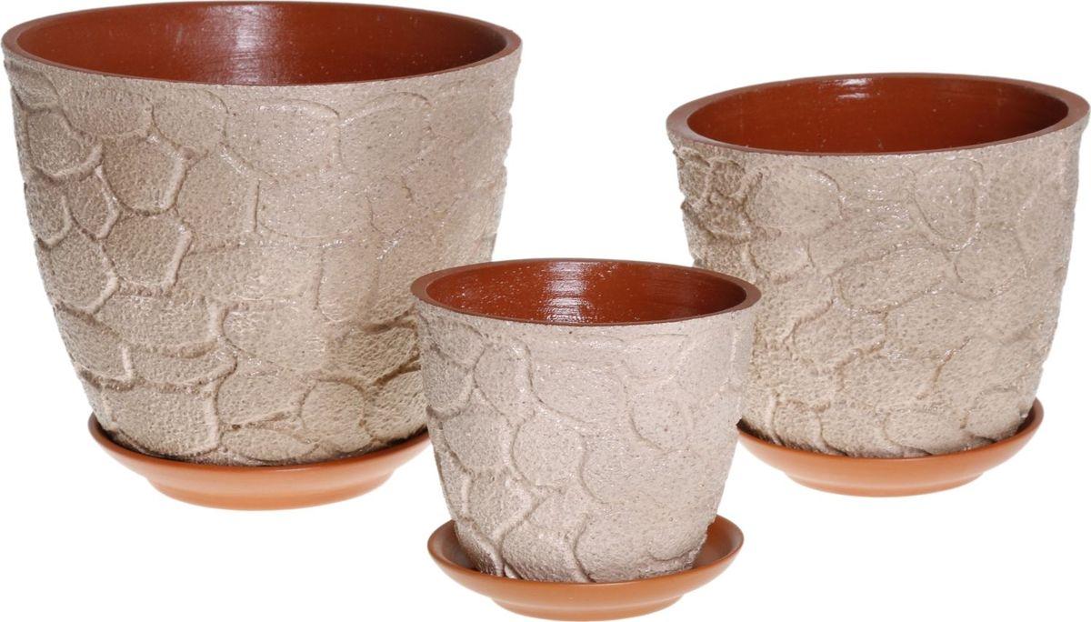 Набор кашпо Марблс, цвет: экрю, 3 предмета1039810Комнатные растения — всеобщие любимцы. Они радуют глаз, насыщают помещение кислородом и украшают пространство. Каждому из них необходим свой удобный и красивый дом. Кашпо из керамики прекрасно подходят для высадки растений: за счёт пластичности глины и разных способов обработки существует великое множество форм и дизайновпористый материал позволяет испаряться лишней влагевоздух, необходимый для дыхания корней, проникает сквозь керамические стенки! #name# позаботится о зелёном питомце, освежит интерьер и подчеркнёт его стиль.