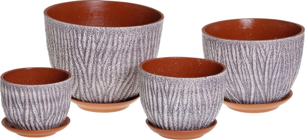 Набор кашпо Кора, 4 предмета1039828Комнатные растения — всеобщие любимцы. Они радуют глаз, насыщают помещение кислородом и украшают пространство. Каждому из них необходим свой удобный и красивый дом. Кашпо из керамики прекрасно подходят для высадки растений: за счёт пластичности глины и разных способов обработки существует великое множество форм и дизайновпористый материал позволяет испаряться лишней влагевоздух, необходимый для дыхания корней, проникает сквозь керамические стенки! #name# позаботится о зелёном питомце, освежит интерьер и подчеркнёт его стиль.