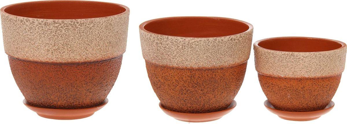 Набор кашпо Триумф, 3 предмета1039861Комнатные растения — всеобщие любимцы. Они радуют глаз, насыщают помещение кислородом и украшают пространство. Каждому из них необходим свой удобный и красивый дом. Кашпо из керамики прекрасно подходят для высадки растений: за счет пластичности глины и разных способов обработки существует великое множество форм и дизайнов пористый материал позволяет испаряться лишней влаге воздух, необходимый для дыхания корней, проникает сквозь керамические стенки! позаботится о зеленом питомце, освежит интерьер и подчеркнет его стиль.