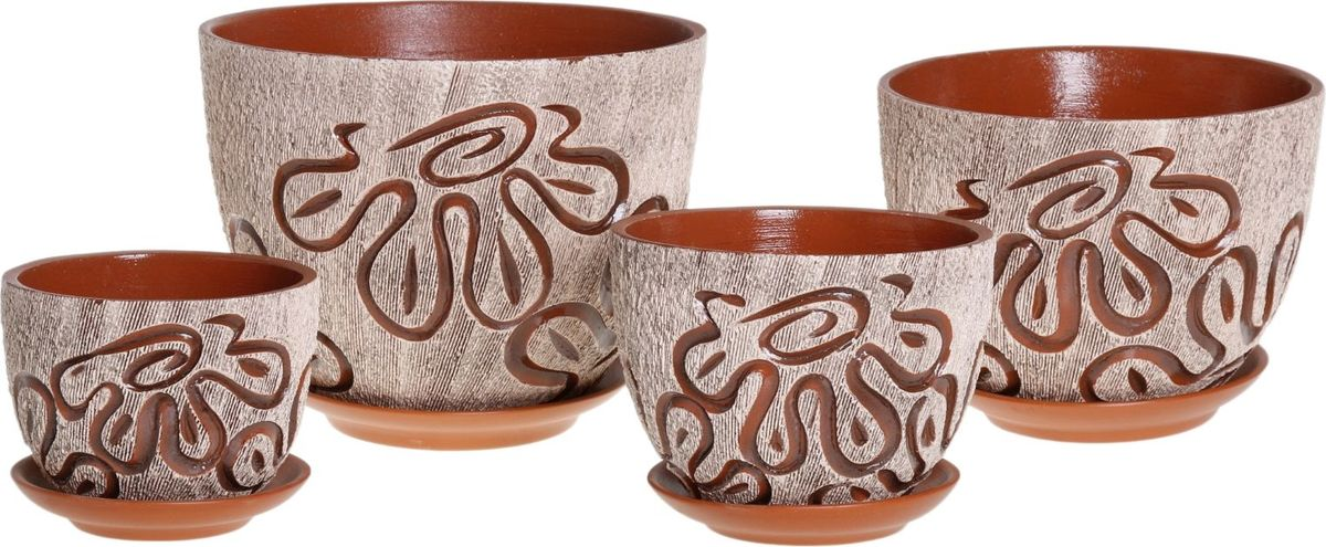 Набор кашпо Клякса, 4 предмета1039880Комнатные растения — всеобщие любимцы. Они радуют глаз, насыщают помещение кислородом и украшают пространство. Каждому из них необходим свой удобный и красивый дом. Кашпо из керамики прекрасно подходят для высадки растений: за счет пластичности глины и разных способов обработки существует великое множество форм и дизайнов пористый материал позволяет испаряться лишней влаге воздух, необходимый для дыхания корней, проникает сквозь керамические стенки! позаботится о зеленом питомце, освежит интерьер и подчеркнет его стиль.