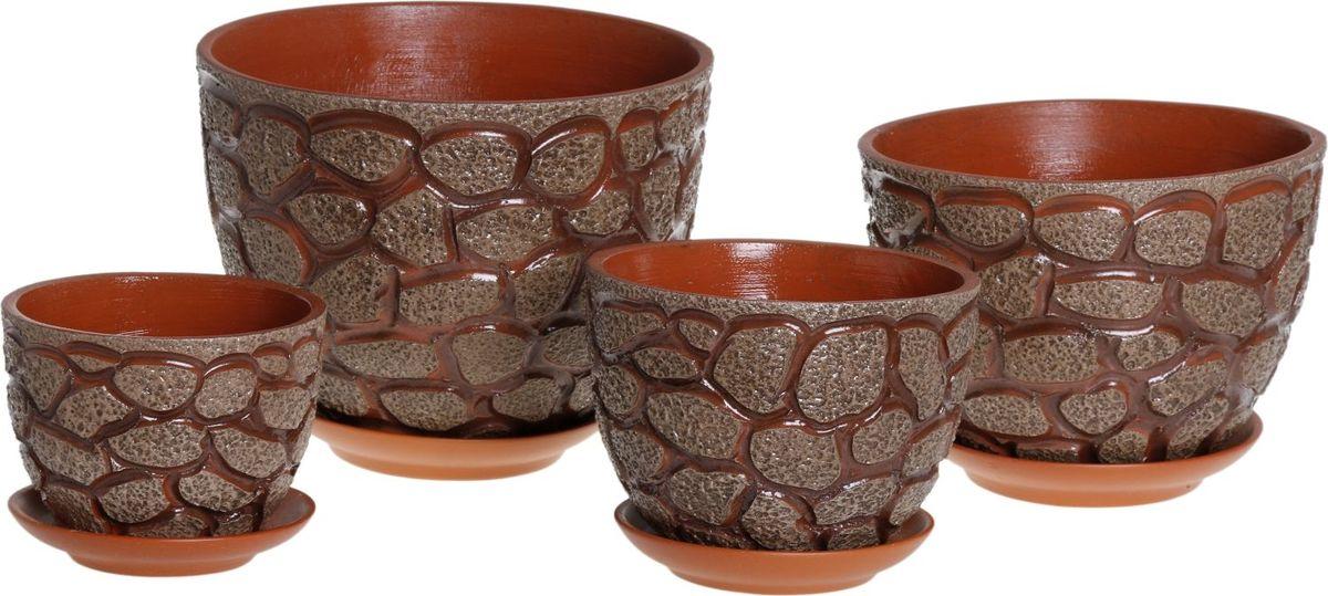 Набор кашпо Камушки, 4 предмета1039888Комнатные растения — всеобщие любимцы. Они радуют глаз, насыщают помещение кислородом и украшают пространство. Каждому из них необходим свой удобный и красивый дом. Кашпо из керамики прекрасно подходят для высадки растений: за счёт пластичности глины и разных способов обработки существует великое множество форм и дизайновпористый материал позволяет испаряться лишней влагевоздух, необходимый для дыхания корней, проникает сквозь керамические стенки! #name# позаботится о зелёном питомце, освежит интерьер и подчеркнёт его стиль.