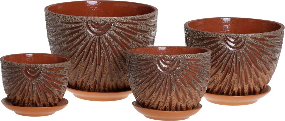 Набор кашпо Фейерверк, 4 предмета1039893Комнатные растения — всеобщие любимцы. Они радуют глаз, насыщают помещение кислородом и украшают пространство. Каждому из них необходим свой удобный и красивый дом. Кашпо из керамики прекрасно подходят для высадки растений: за счёт пластичности глины и разных способов обработки существует великое множество форм и дизайновпористый материал позволяет испаряться лишней влагевоздух, необходимый для дыхания корней, проникает сквозь керамические стенки! #name# позаботится о зелёном питомце, освежит интерьер и подчеркнёт его стиль.