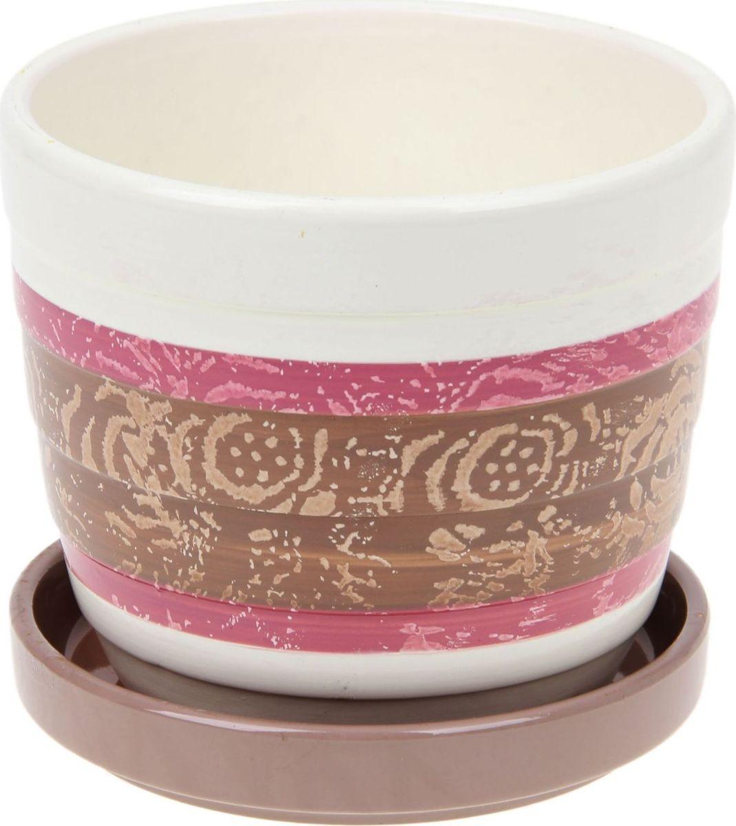 Кашпо Розы, цвет: розовый, 0,72 л1056020Комнатные растения — всеобщие любимцы. Они радуют глаз, насыщают помещение кислородом и украшают пространство. Каждому из них необходим свой удобный и красивый дом. Кашпо из керамики прекрасно подходят для высадки растений: за счёт пластичности глины и разных способов обработки существует великое множество форм и дизайновпористый материал позволяет испаряться лишней влагевоздух, необходимый для дыхания корней, проникает сквозь керамические стенки! #name# позаботится о зелёном питомце, освежит интерьер и подчеркнёт его стиль.