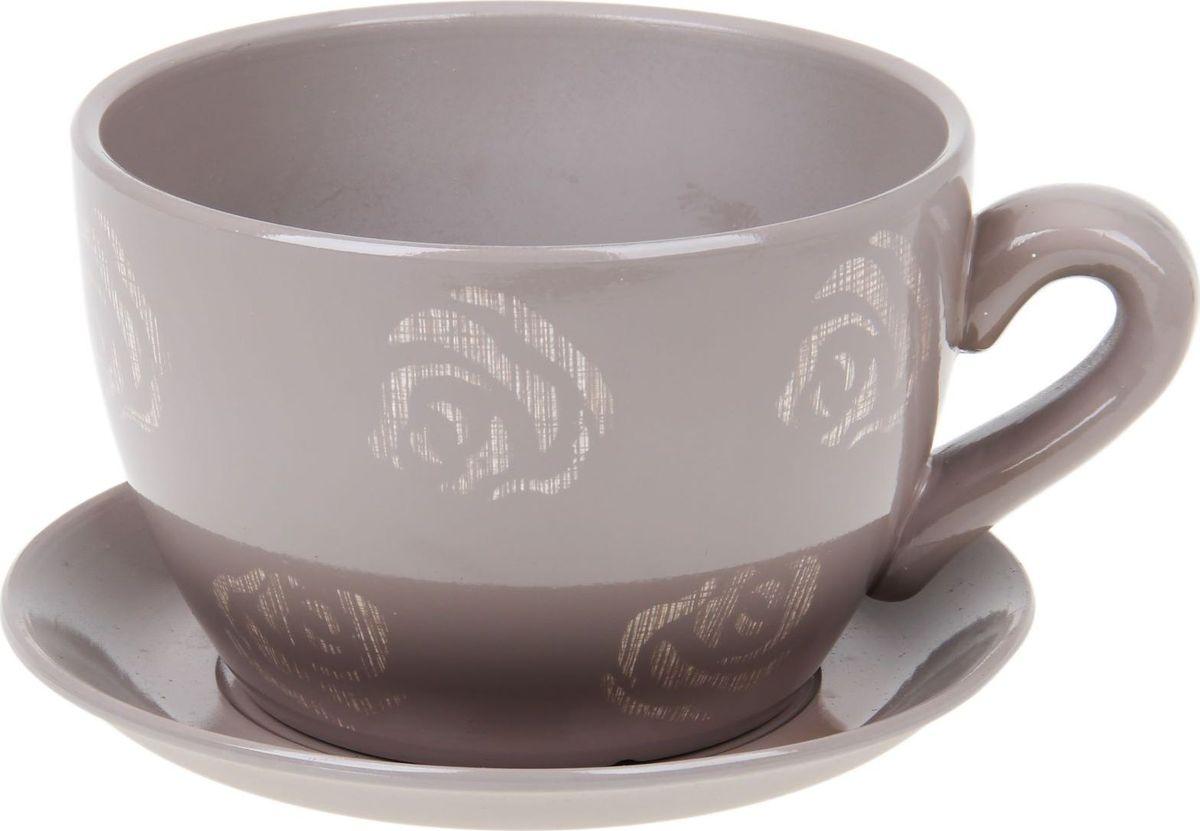Кашпо Чайная роза, цвет: кофе с молоком, 0,8 л1056039Комнатные растения — всеобщие любимцы. Они радуют глаз, насыщают помещение кислородом и украшают пространство. Каждому из них необходим свой удобный и красивый дом. Кашпо из керамики прекрасно подходят для высадки растений: за счёт пластичности глины и разных способов обработки существует великое множество форм и дизайновпористый материал позволяет испаряться лишней влагевоздух, необходимый для дыхания корней, проникает сквозь керамические стенки! #name# позаботится о зелёном питомце, освежит интерьер и подчеркнёт его стиль.