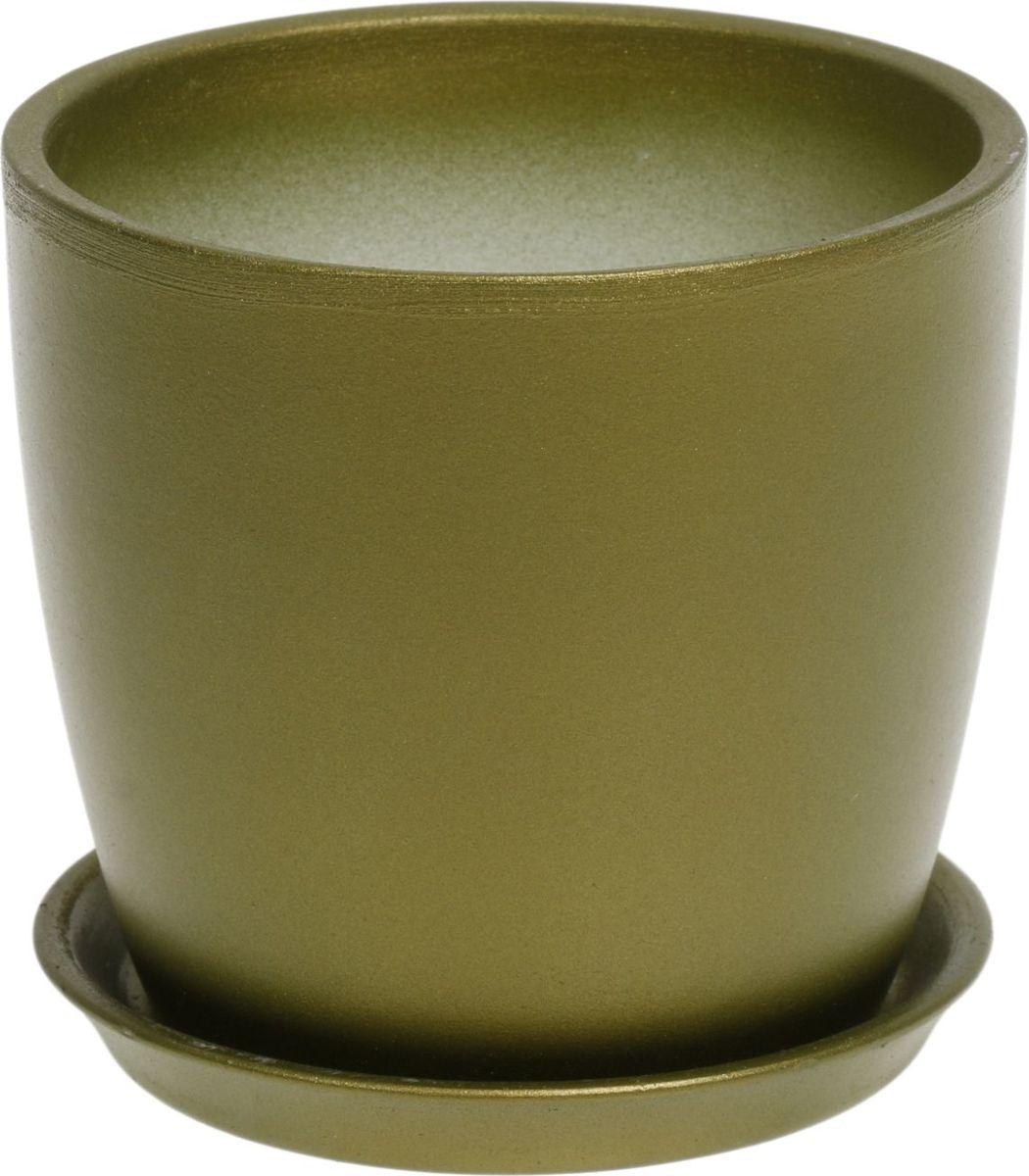 Кашпо Керамика ручной работы Осень, цвет: темно-зеленый, 0,5 л1062699Комнатные растения — всеобщие любимцы. Они радуют глаз, насыщают помещение кислородом и украшают пространство. Каждому из них необходим свой удобный и красивый дом. Кашпо из керамики прекрасно подходят для высадки растений: за счёт пластичности глины и разных способов обработки существует великое множество форм и дизайновпористый материал позволяет испаряться лишней влагевоздух, необходимый для дыхания корней, проникает сквозь керамические стенки! #name# позаботится о зелёном питомце, освежит интерьер и подчеркнёт его стиль.