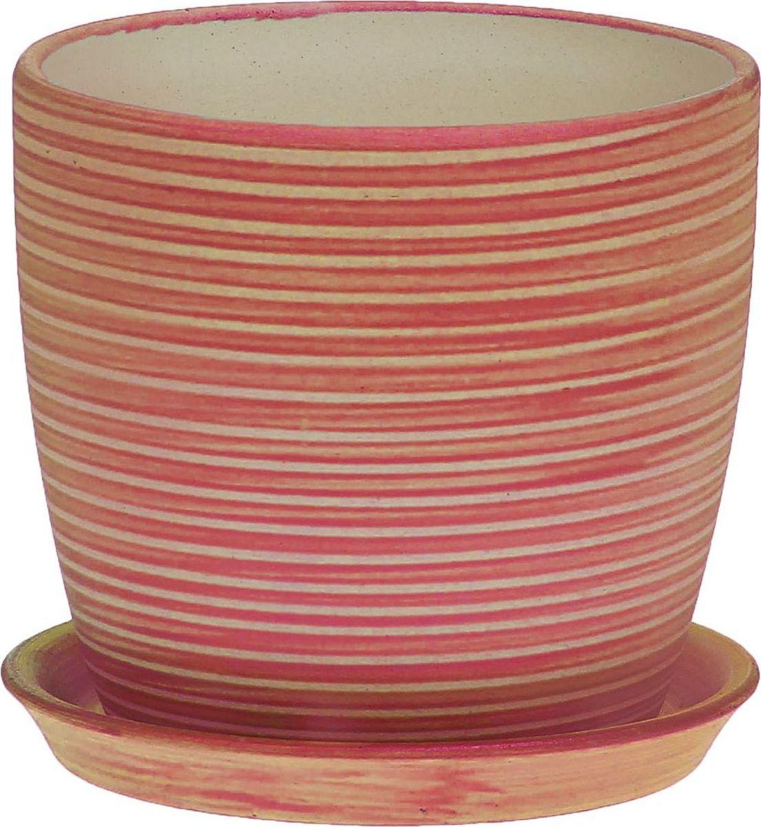 Кашпо Керамика ручной работы Осень. Радуга, цвет: медный, 1 л1062702
