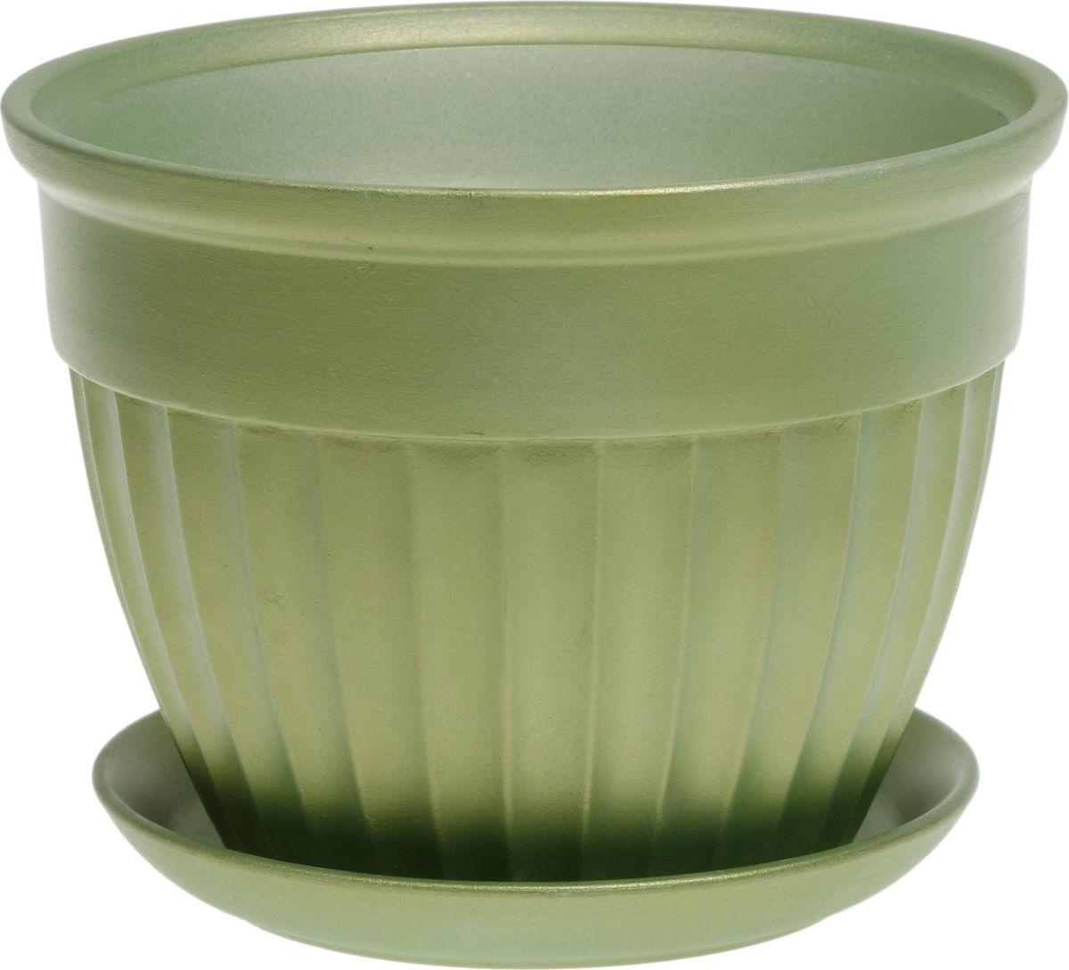 Кашпо Керамика ручной работы Ромашка, цвет: светло-зеленый, 2 л1062712Комнатные растения — всеобщие любимцы. Они радуют глаз, насыщают помещение кислородом и украшают пространство. Каждому из них необходим свой удобный и красивый дом. Кашпо из керамики прекрасно подходят для высадки растений: за счёт пластичности глины и разных способов обработки существует великое множество форм и дизайновпористый материал позволяет испаряться лишней влагевоздух, необходимый для дыхания корней, проникает сквозь керамические стенки! #name# позаботится о зелёном питомце, освежит интерьер и подчеркнёт его стиль.