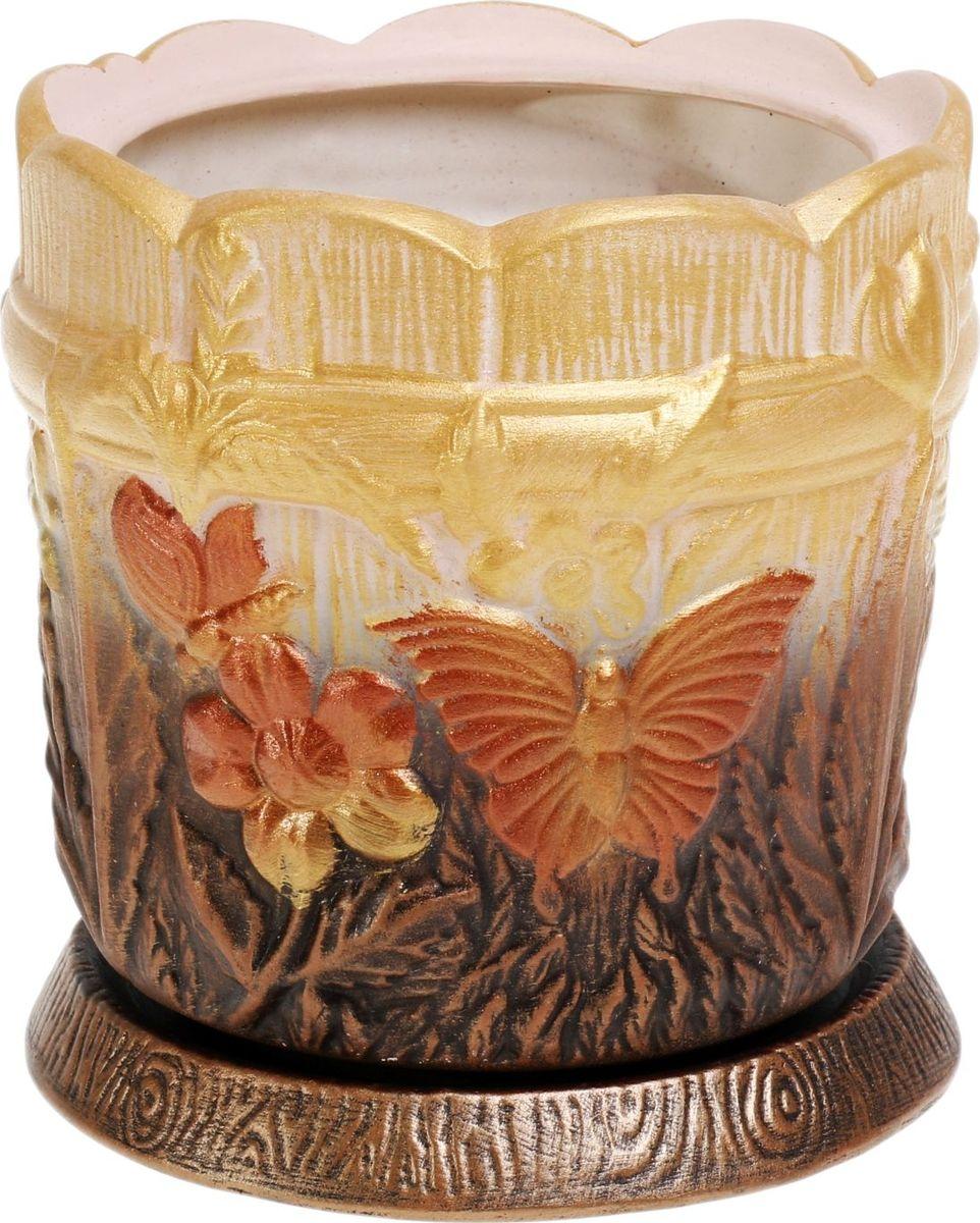 Кашпо Керамика ручной работы Поляна, цвет: медный, 2 л1063416