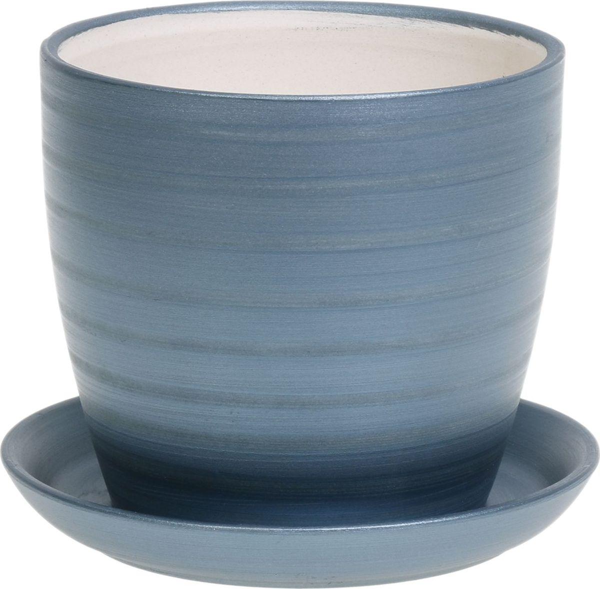 Кашпо Керамика ручной работы Осень. Радуга, цвет: синий, 0,5 л1063934Комнатные растения — всеобщие любимцы. Они радуют глаз, насыщают помещение кислородом и украшают пространство. Каждому из них необходим свой удобный и красивый дом. Кашпо из керамики прекрасно подходят для высадки растений: за счёт пластичности глины и разных способов обработки существует великое множество форм и дизайновпористый материал позволяет испаряться лишней влагевоздух, необходимый для дыхания корней, проникает сквозь керамические стенки! #name# позаботится о зелёном питомце, освежит интерьер и подчеркнёт его стиль.