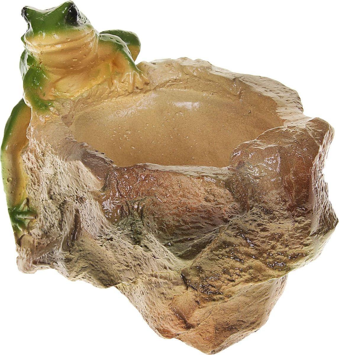 Кашпо Лягушка на камне, 12 х 21 х 25 см1074224