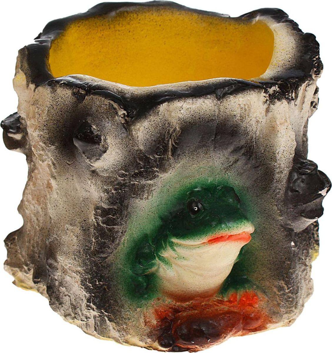 Кашпо Пень с совой, цвет: желтый, 16 х 17 х 14 см1079314Комнатные растения — всеобщие любимцы. Они радуют глаз, насыщают помещение кислородом и украшают пространство. Каждому из растений необходим свой удобный и красивый дом. Поселите зеленого питомца в яркое и оригинальное фигурное кашпо. Выберите подходящую форму для детской, спальни, гостиной, балкона, офиса или террасы. позаботится о растении, украсит окружающее пространство и подчеркнет его оригинальный стиль.