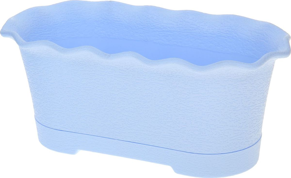 Горшок для цветов ТЕК.А.ТЕК Le Fleure, цвет: синий, 40 х 20 х 16 см1098525Любой, даже самый современный и продуманный интерьер будет не завершённым без растений. Они не только очищают воздух и насыщают его кислородом, но и заметно украшают окружающее пространство. Такому полезному &laquo члену семьи&raquoпросто необходимо красивое и функциональное кашпо, оригинальный горшок или необычная ваза! Мы предлагаем - Горшок для цветов балконный с поддоном Le Fleure, 40 см, цвет синий!Оптимальный выбор материала &mdash &nbsp пластмасса! Почему мы так считаем? Малый вес. С лёгкостью переносите горшки и кашпо с места на место, ставьте их на столики или полки, подвешивайте под потолок, не беспокоясь о нагрузке. Простота ухода. Пластиковые изделия не нуждаются в специальных условиях хранения. Их&nbsp легко чистить &mdashдостаточно просто сполоснуть тёплой водой. Никаких царапин. Пластиковые кашпо не царапают и не загрязняют поверхности, на которых стоят. Пластик дольше хранит влагу, а значит &mdashрастение реже нуждается в поливе. Пластмасса не пропускает воздух &mdashкорневой системе растения не грозят резкие перепады температур. Огромный выбор форм, декора и расцветок &mdashвы без труда подберёте что-то, что идеально впишется в уже существующий интерьер.Соблюдая нехитрые правила ухода, вы можете заметно продлить срок службы горшков, вазонов и кашпо из пластика: всегда учитывайте размер кроны и корневой системы растения (при разрастании большое растение способно повредить маленький горшок)берегите изделие от воздействия прямых солнечных лучей, чтобы кашпо и горшки не выцветалидержите кашпо и горшки из пластика подальше от нагревающихся поверхностей.Создавайте прекрасные цветочные композиции, выращивайте рассаду или необычные растения, а низкие цены позволят вам не ограничивать себя в выборе.