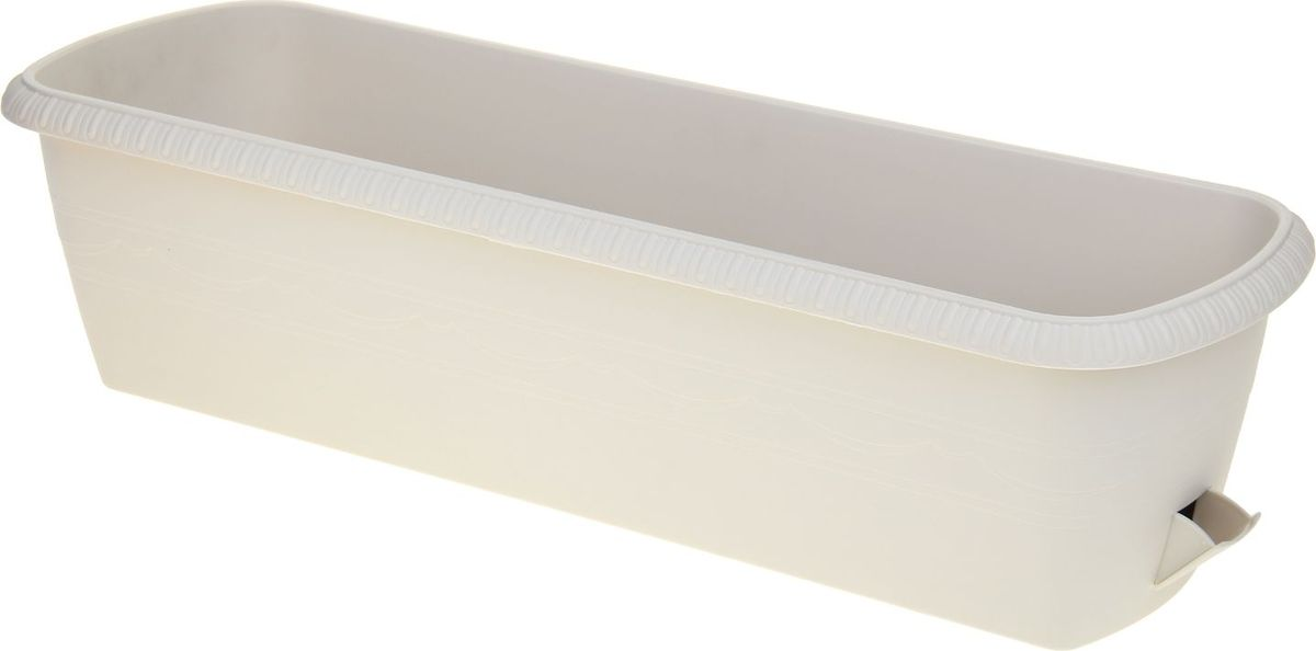Горшок для цветов ТЕК.А.ТЕК Le Jardin, балконный, цвет: серый, 60 х 19 х 15 см ящик балконный santino 60 х 19 х 15 см