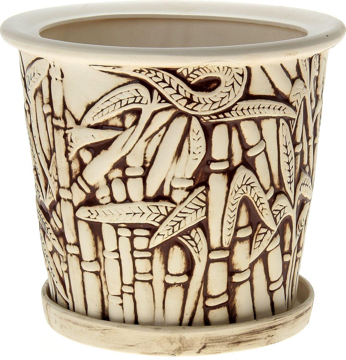 Кашпо Керамика ручной работы Камыш, цвет: шамот, 10 л144195Комнатные растения — всеобщие любимцы. Они радуют глаз, насыщают помещение кислородом и украшают пространство. Каждому из них необходим свой удобный и красивый дом. Кашпо из керамики прекрасно подходят для высадки растений: за счёт пластичности глины и разных способов обработки существует великое множество форм и дизайновпористый материал позволяет испаряться лишней влагевоздух, необходимый для дыхания корней, проникает сквозь керамические стенки! #name# позаботится о зелёном питомце, освежит интерьер и подчеркнёт его стиль.