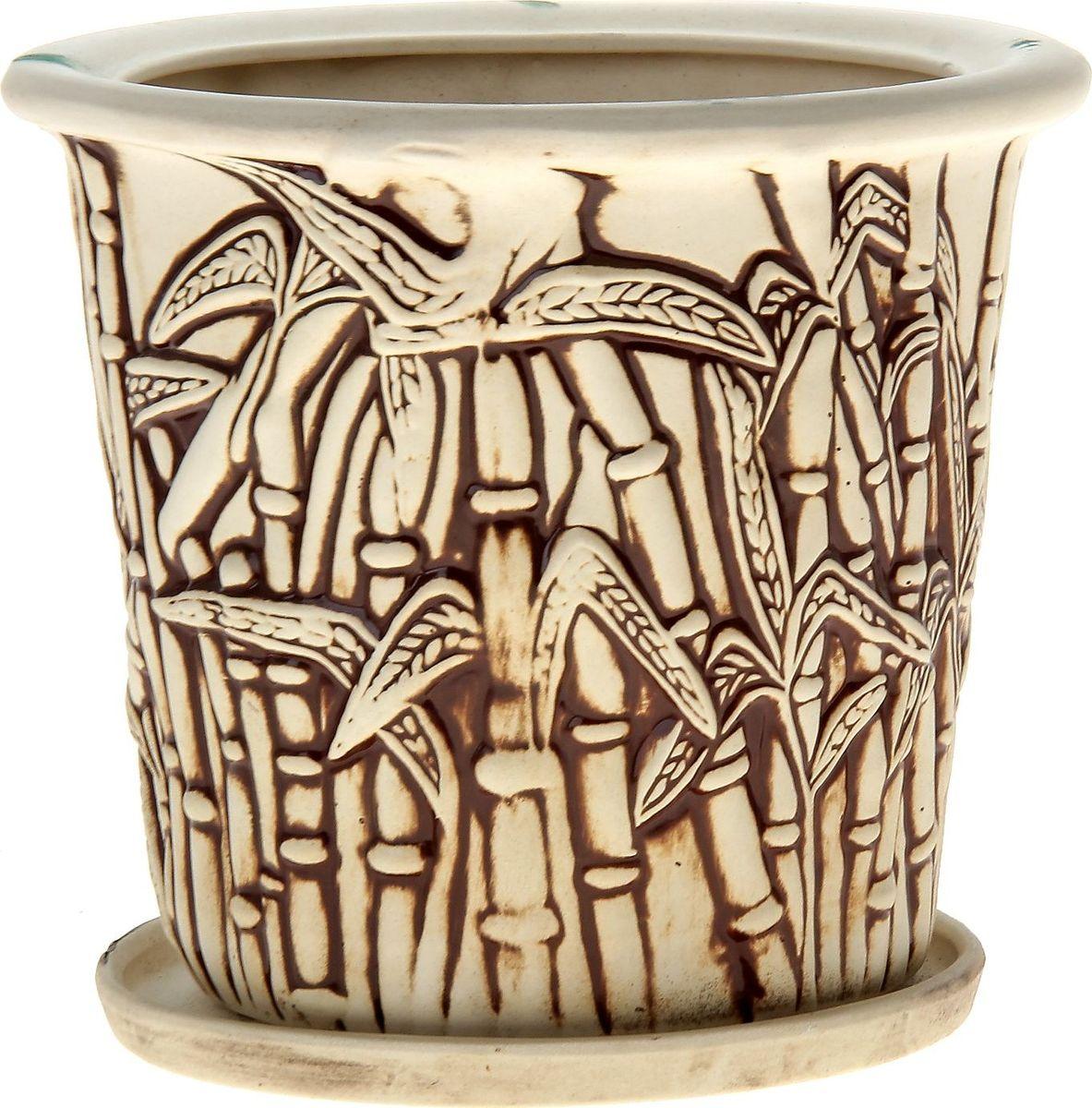Кашпо Керамика ручной работы Камыш, цвет: шамот, 5 л144199Комнатные растения — всеобщие любимцы. Они радуют глаз, насыщают помещение кислородом и украшают пространство. Каждому из них необходим свой удобный и красивый дом. Кашпо из керамики прекрасно подходят для высадки растений: за счёт пластичности глины и разных способов обработки существует великое множество форм и дизайновпористый материал позволяет испаряться лишней влагевоздух, необходимый для дыхания корней, проникает сквозь керамические стенки! #name# позаботится о зелёном питомце, освежит интерьер и подчеркнёт его стиль.