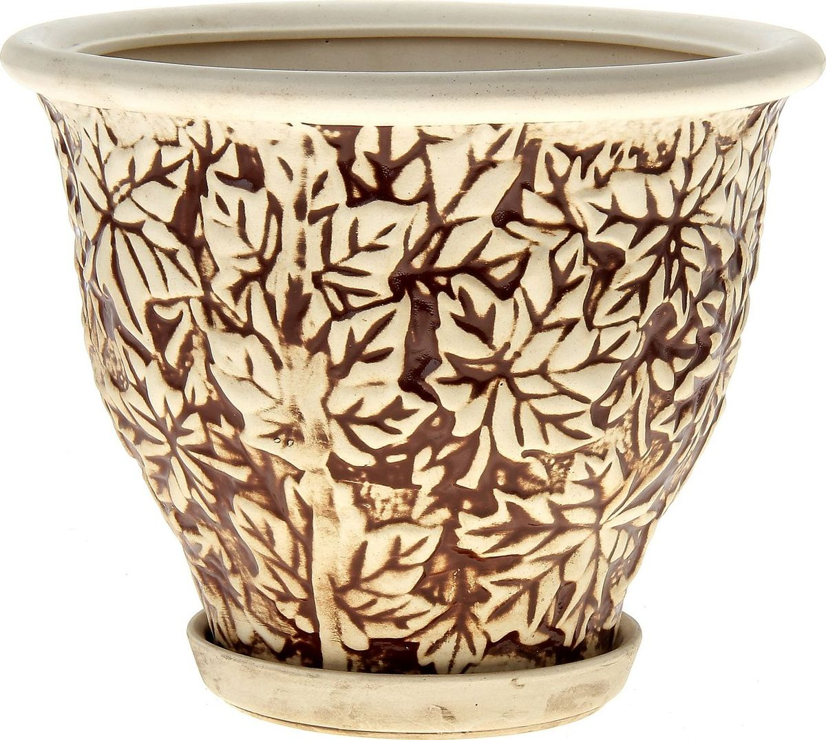 Кашпо Керамика ручной работы Клен, цвет: шамот, 4,5 л144207Декоративное кашпо, выполненное из высококачественной керамики, предназначено для посадки декоративных растений и станет прекрасным украшением для дома. Пористый материал позволяет испаряться лишней влаге, а воздух, необходимый для дыхания корней, проникает сквозь керамические стенки. Такое кашпо украсит окружающее пространство и подчеркнет его оригинальный стиль.