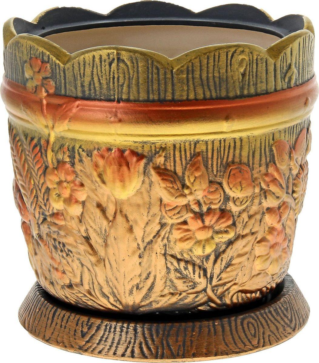 Кашпо Керамика ручной работы Поляна, цвет: акрил, 14,5 л144220Комнатные растения — всеобщие любимцы. Они радуют глаз, насыщают помещение кислородом и украшают пространство. Каждому из них необходим свой удобный и красивый дом. Кашпо из керамики прекрасно подходят для высадки растений: за счёт пластичности глины и разных способов обработки существует великое множество форм и дизайновпористый материал позволяет испаряться лишней влагевоздух, необходимый для дыхания корней, проникает сквозь керамические стенки! #name# позаботится о зелёном питомце, освежит интерьер и подчеркнёт его стиль.