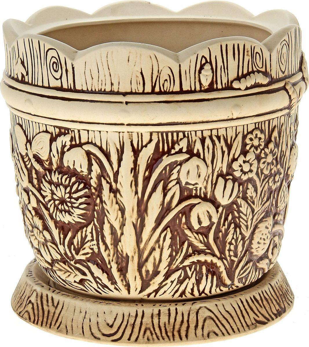 Кашпо Керамика ручной работы Поляна, цвет: шамот, 14,5 л144221Комнатные растения — всеобщие любимцы. Они радуют глаз, насыщают помещение кислородом и украшают пространство. Каждому из них необходим свой удобный и красивый дом. Кашпо из керамики прекрасно подходят для высадки растений: за счёт пластичности глины и разных способов обработки существует великое множество форм и дизайновпористый материал позволяет испаряться лишней влагевоздух, необходимый для дыхания корней, проникает сквозь керамические стенки! #name# позаботится о зелёном питомце, освежит интерьер и подчеркнёт его стиль.