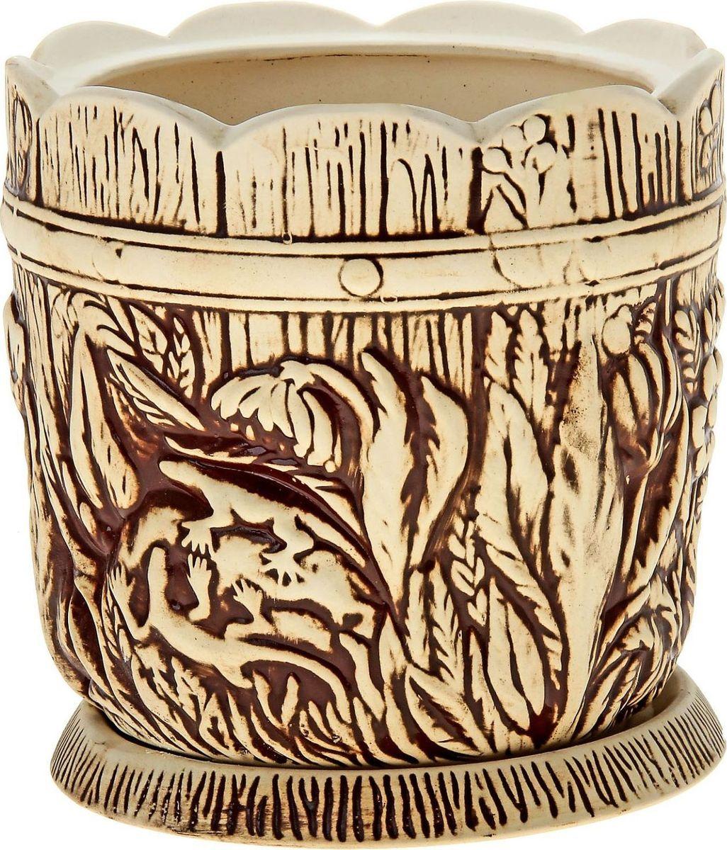 Кашпо Керамика ручной работы Поляна, цвет: шамот, 6 л144227
