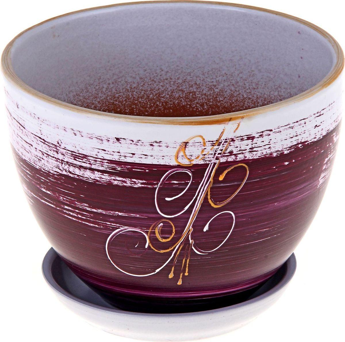 """Декоративное кашпо """"Вьюнок"""", выполненное из высококачественной керамики, предназначено для посадки декоративных растений и станет прекрасным украшением для дома. Благодаря своему дизайну впишется в любой интерьер помещения."""