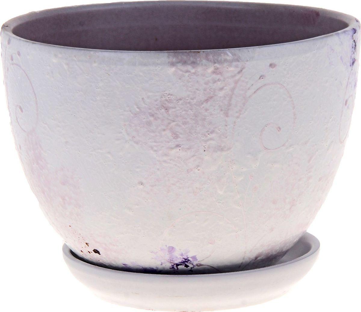 """Декоративное кашпо """"Лазурит"""", выполненное из высококачественной керамики, предназначено для посадки декоративных растений и станет прекрасным украшением для дома. Благодаря своему дизайну впишется в любой интерьер помещения."""