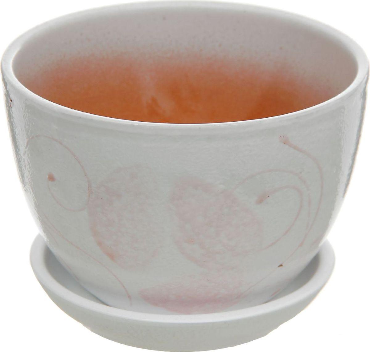 Кашпо Лазурит, цвет: сиреневый, 0,75 л164751