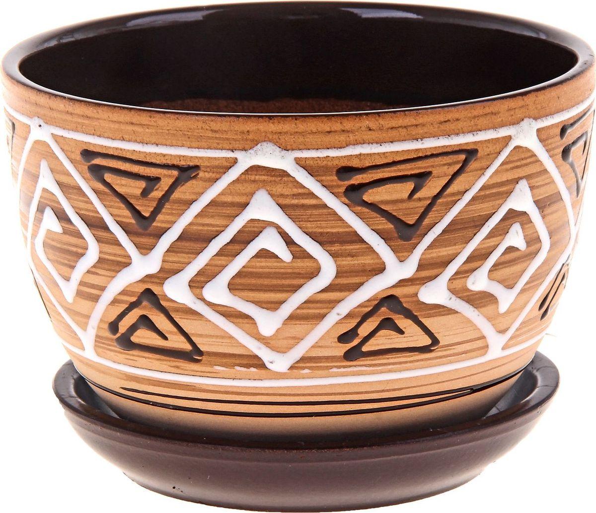 Кашпо Сузорье, 0,75 л164756Комнатные растения - всеобщие любимцы. Они радуют глаз, насыщают помещение кислородом и украшают пространство. Каждому из них необходим свой удобный и красивый дом. Кашпо из керамики прекрасно подходят для высадки растений: за счет пластичности глины и разных способов обработки существует великое множество форм и дизайнов пористый материал позволяет испаряться лишней влаге воздух, необходимый для дыхания корней, проникает сквозь керамические стенки! Позаботится о зеленом питомце, освежит интерьер и подчеркнет его стиль.