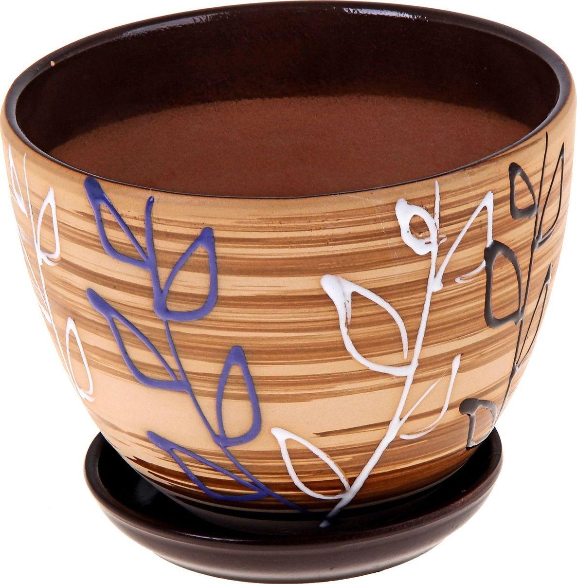 """Декоративное кашпо """"Ленок"""", выполненное из высококачественной керамики, предназначено для посадки декоративных растений и станет прекрасным украшением для дома. Благодаря своему дизайну впишется в любой интерьер помещения."""