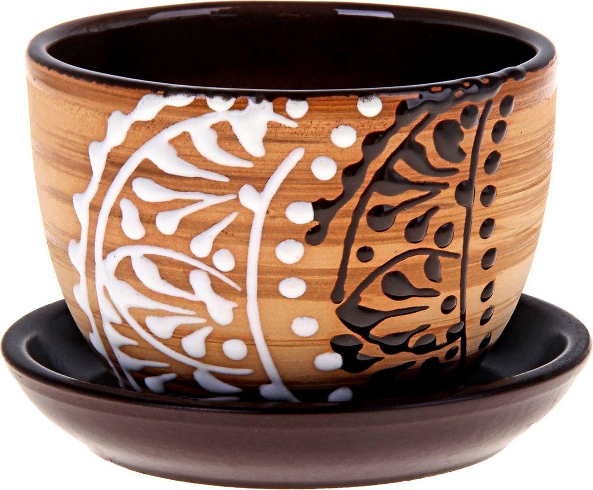 Кашпо Кружево, 0,35 л164777Декоративное кашпо, выполненное из высококачественной керамики, предназначено для посадки декоративных растений и станет прекрасным украшением для дома. Пористый материал позволяет испаряться лишней влаге, а воздух, необходимый для дыхания корней, проникает сквозь керамические стенки. Такое кашпо украсит окружающее пространство и подчеркнет его оригинальный стиль.